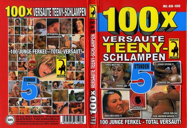 100 X Versaute Teeny Schlampen Muschi Movies