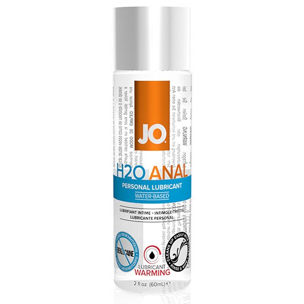 System Jo H2O Anal Warming Lubricant: 60ml System Jo