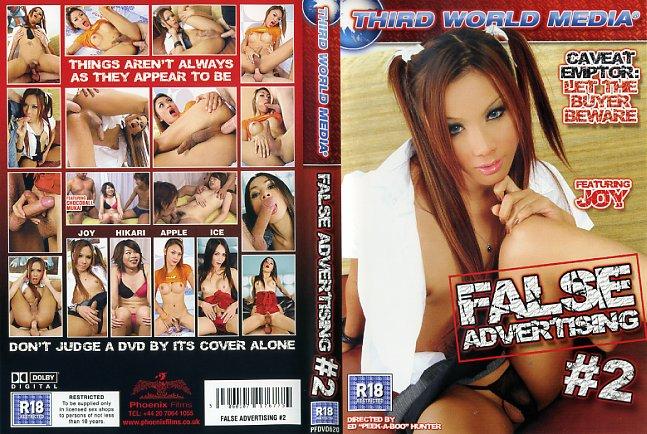 False advertising third world media porn dvd
