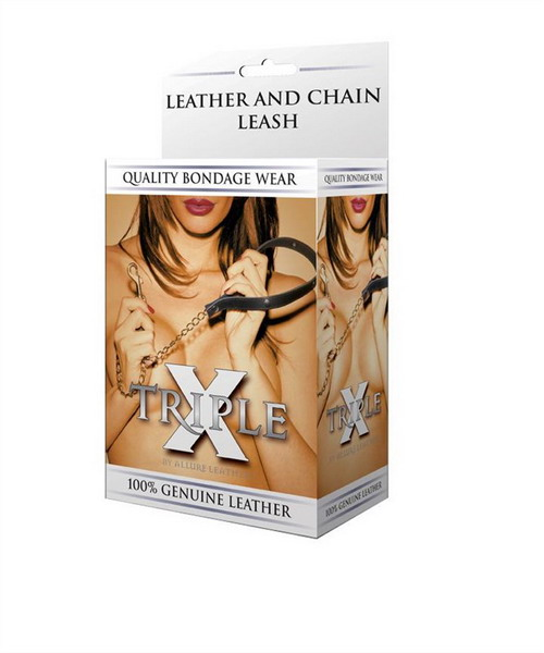 Leather and Chain LeashTriple X