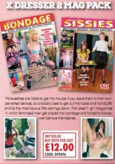 X Dresser 2 Mag Pack Adult Magazines