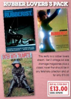 Rubber Lovers 3 Pack Adult Magazines