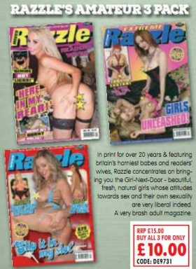 Razzle's Amateur 3 Pack Adult Magazines