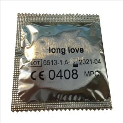 Long Love Ribbed And Dotted Condoms: 62 pack