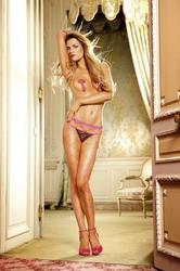 Diamond Net Pantyhose Neon Pink (Small To Large)