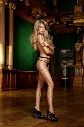 Diamond Net Pantyhose Black Diamond (Small To Large)