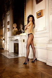 Fishnet Jacquard Pantyhose Black (Small To Large)