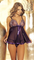 Sequin Babydoll Purple (Extra Extra Large Plus)