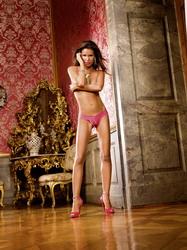 Crotchless Lace Panties Pink (Medium)