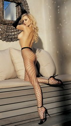 Big Hole Fishnet Pantyhose Black Plus Size (Extra Extra Large Plus)