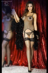 Erotic Mesh Set Black (Extra Extra Large)