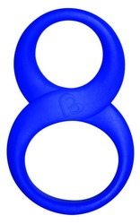 8 Ball Cock & Ball Ring: Blue