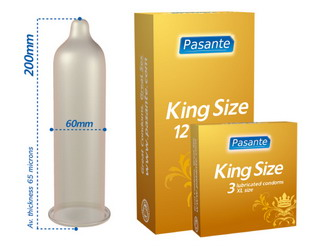 Pasante Extra Large Condoms: 48 pack