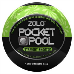 Zolo Pocket Pool Straight Shooter: Green