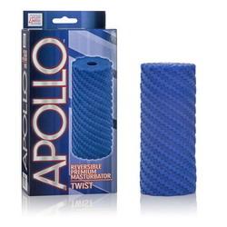 Apollo Reversible Premium Masturbator: Twist: Blue