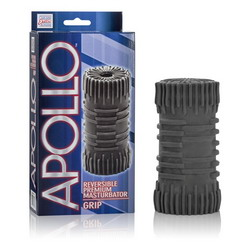Apollo Reversible Premium Masturbator: Grip: Grey
