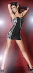 Black Leopard Mini Dress (Small To Medium)