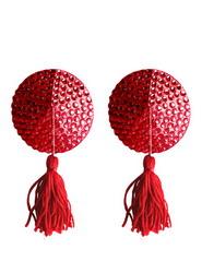 Nipple Tassels: Round Red