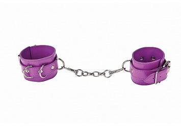 Leather Cuffs: Purple