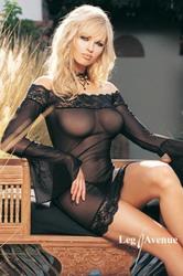 Off The Shoulder Dress Set Black (Medium To Large)