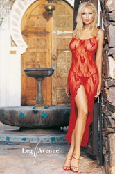Lace Long Dress Set Red (Medium To Large)