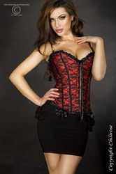 Red Satin Corset (Extra Large)
