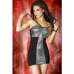 Silver Black Mini Dress (Large)