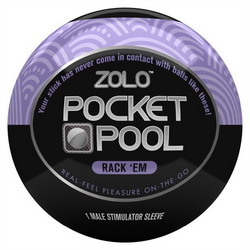Zolo Pocket Pool Rack 'Em: Purple