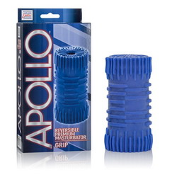 Apollo Reversible Premium Masturbator: Grip: Blue