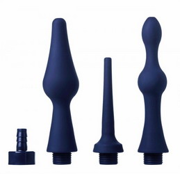 CleanStream Universal 3-Piece Silicone Enema Attachment Set