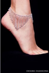 Ankle Chain Streamer Diamanté