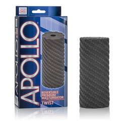 Apollo Reversible Premium Masturbator: Twist: Grey