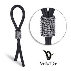 Velv'Or JBoa 302 Adjustable Cock Ring: Silver Balls