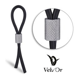 Velv'Or JBoa 303 Adjustable Cock Ring: Silver Knurled